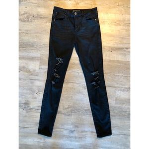 Abercrombie Black Ripped Skinny Jeans